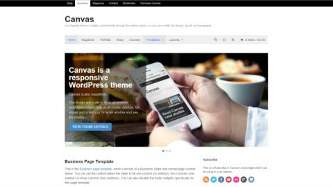 Canvas 5.9.5 от (WooThemes) Премиум шаблон для WordPress