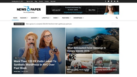 Newspaper v6.1 от (tagDiv) шаблон для WordPress