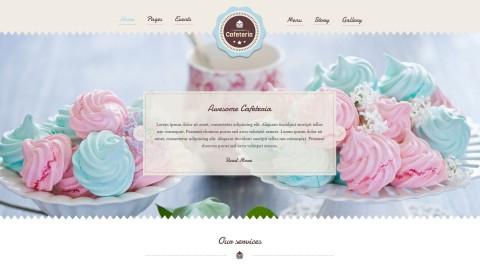 Cafeteria от (CRIK0VA) шаблон для WordPress