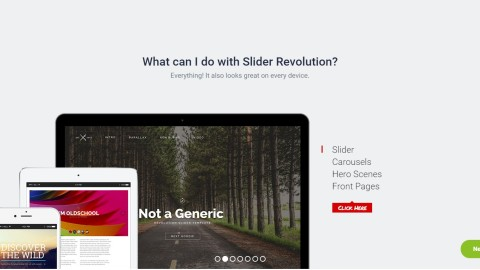 Revolution Slider v5.1.6 премиум слайдер WordPress от Themepunch