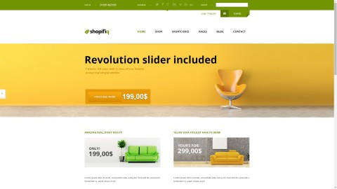 Shopifiq v2.3.6 от (Anps) адаптивный WordPress WooCommerce шаблон